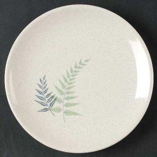 Franciscan Fern Dell Bread & Butter Plate, Fine China Dinnerware   Green & Gray