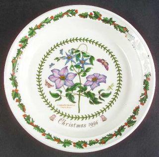 Portmeirion Botanic Garden 1996 Annual Christmas Plate, Fine China Dinnerware