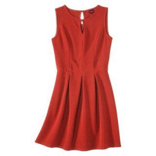 Merona Womens Textured Sleeveless Keyhole Neck Dress   Hot Orange   XS