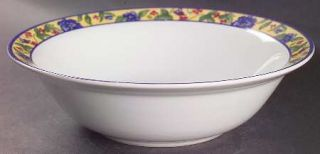 Oneida French Provincial Rim Cereal Bowl, Fine China Dinnerware   Yellow Band Wi