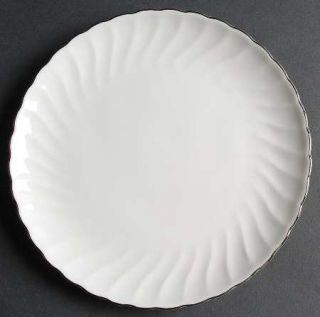 Syracuse Wedding Ring Salad Plate, Fine China Dinnerware   Silhouette Shape,Whit