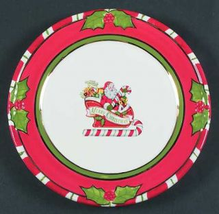 Christopher Radko Letters To Santa Salad Plate, Fine China Dinnerware   Santa,Sl