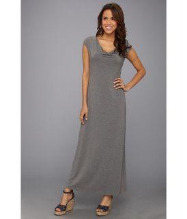 Tommy Bahama Tambour Cowl Long Dress Womens Dress (Gray)