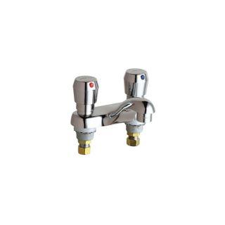 Chicago Faucets 802V665ABCP , Vandal Proof ECAST Low Lead MVP TwoHandle Metering w/ 4 Spout Chrome