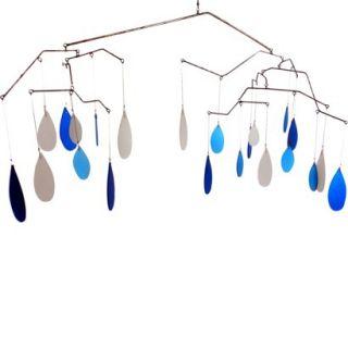 Glass Raindrops Kinetic Hanging Mobile