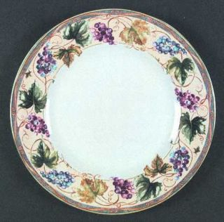 Interiors (PTS) Tuscan Country Dinner Plate, Fine China Dinnerware   Grapes, Vin