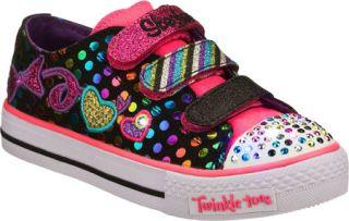 Infant/Toddler Girls Skechers Twinkle Toes Shuffles Burst O Fun   Black/Multi V