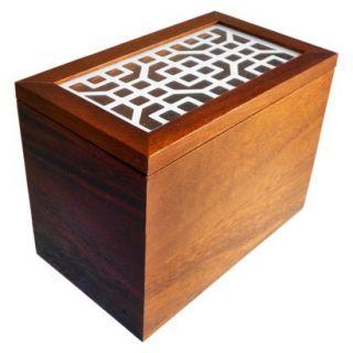 Threshold Acacia Wood Recipe Box