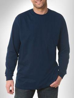 Big and Tall Harbor Bay® Long Sleeve Pocket Wicking Crew