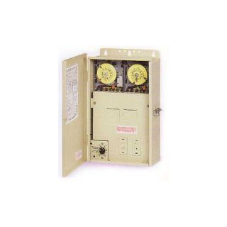 Intermatic PF1222TB Timer, Dual Timer w/Freeze Control Panel and 8/16 Breaker Panel