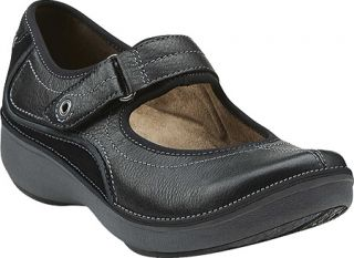 Womens Clarks Wave.Journey   Black Leather Casual Shoes