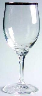 JOHANN HAVILAND Wedding Ring Wine Glass   Platinum Trim