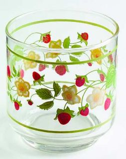 Corning Strawberry Sundae 8 Oz Glassware Old Fashioned, Fine China Dinnerware