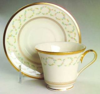 Lenox China Amanda Footed Cup & Saucer Set, Fine China Dinnerware   Twisted Flor
