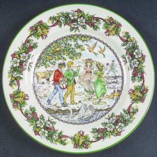 Spode World Of Christmas Carols Salad Plate, Fine China Dinnerware   Annual Plat