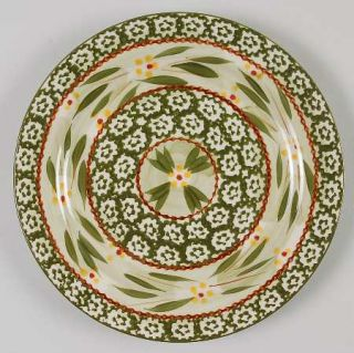 Temp Tations Old World Green Salad Plate, Fine China Dinnerware   Green Sponge B