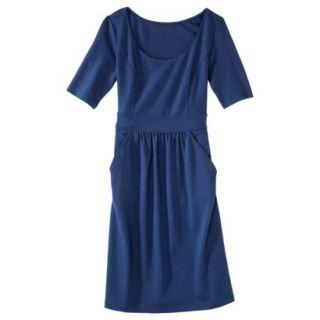Merona Womens Ponte Elbow Sleeve Dress w/Pockets   Waterloo Blue   L