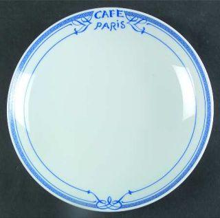 Bernardaud Cafe Paris Blue 9 Individual Pasta Bowl, Fine China Dinnerware   Res