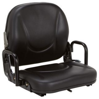 K & M Daewoo Forklift Seat   Black, Model# 8054
