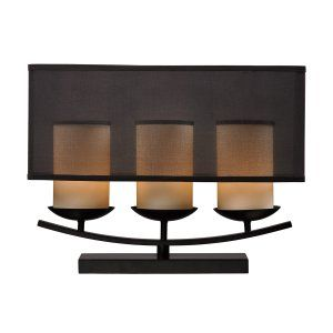 Dimond Lighting DMD D2300 Bakersfield 3 Light Candle Lamp with Bronze Accents