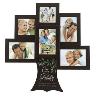 6 Opening Family Tree Collage Frame   Brown
