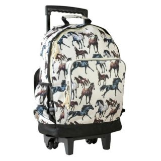 Wildkin Classic Collection Horse Dreams High Roller 19 in. Rolling Backpack
