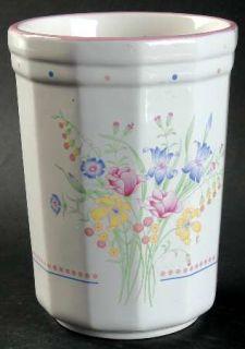 Sarma Studios Victorian Flowers Utensil Holder, Fine China Dinnerware   Floral,