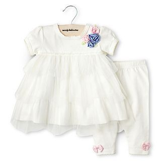Wendy Bellissimo 2 pc. Legging Set   Girls 6m 24m, Cream, Girls