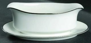 Society (Japan) Wedding Ring Gravy Boat with Attached Underplate, Fine China Din