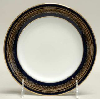 Noritake Vienna Bread & Butter Plate, Fine China Dinnerware   Blue Band, Gold De