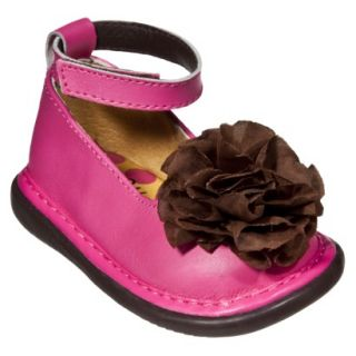 Little Girls Wee Squeak Ankle Strap Shoe   Hot Pink 4