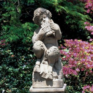 Campania International Pan Cast Stone Garden Statue   S 219 AL