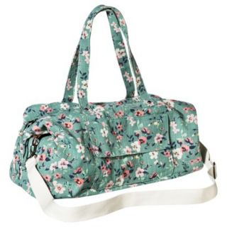 Mossimo Supply Co. Floral Weekender Handbag with Removable Strap   Mint