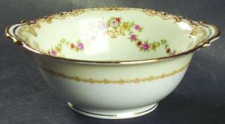 Noritake Lilac Lugged Cereal Bowl, Fine China Dinnerware   Flower Swags,Urns,Gol