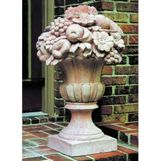 Brookfield Co Urn with Fruit Garden Statue   411 N