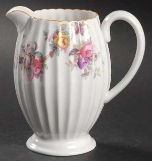 Spode Dorothy Perkins Creamer, Fine China Dinnerware   Multicolor Roses, Scallop