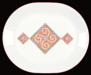 Corning Sand Art 12 Oval Serving Platter, Fine China Dinnerware   Corelle,Coral