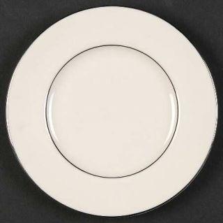 Shenango Wedding Band Bread & Butter Plate, Fine China Dinnerware   Platinum Tri
