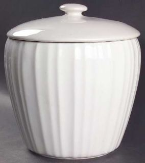 Corning French White (Bakeware) Sugar Canister & Lid, Fine China Dinnerware   Co