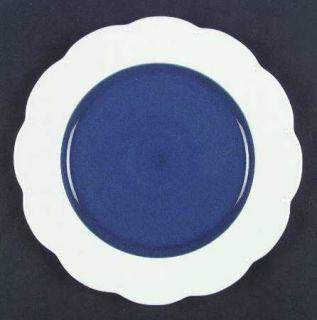 Dansk Miss Match Blue Salad Plate, Fine China Dinnerware   Blue&White, Scalloped