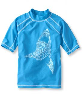 Boys Beansport Graphic Surf Shirt, Short Sleeve Shark Little Boys