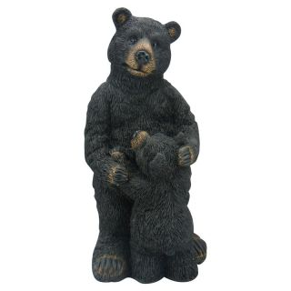 Alpine Black Bear with Baby Garden Statue   GXT522