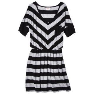 Mossimo Supply Co. Juniors V Neck Elbow Sleeve Dress   Black/Gray M(7 9)
