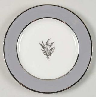 Royal Jackson Countess Silver Wheat Gray Bread & Butter Plate, Fine China Dinner