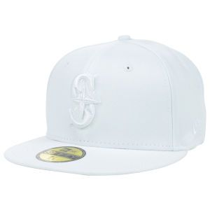 Seattle Mariners New Era MLB White on White Fashion 59FIFTY Cap