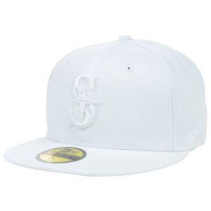 Seattle Mariners New Era MLB White on White Fashion 59FIFTY Cap