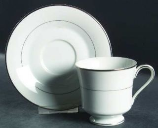 International Wedding Ring Footed Cup & Saucer Set, Fine China Dinnerware   Plat