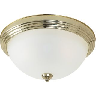 Close To Ceiling 3 light Polished Brass Flush Mount Fixture