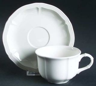 Villeroy & Boch Chambord (White,Fine China,Germany) Flat Cup & Saucer Set, Fine