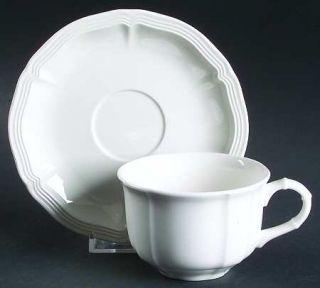 Villeroy & Boch Chambord (White,Fine China,Germany) Flat Cup & Saucer Set, Fine